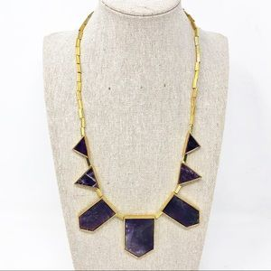 House of Harlow 1960 Amethyst Stone Stn. Necklace